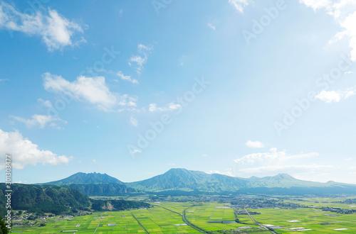 Fototapete - 阿蘇 阿蘇五岳
