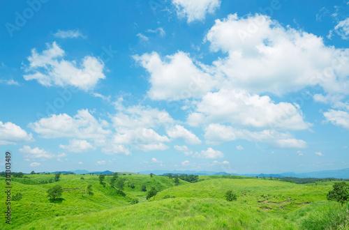 Fototapete - 阿蘇の風景