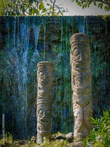 Fotografie, Obraz Tiki divinité tahitienne