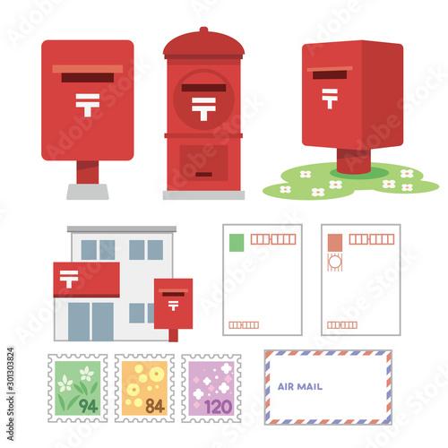 Obraz na plátně ポスト 郵便