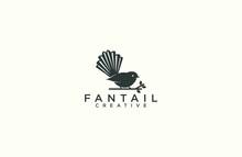 Fantail Silhouette Logo Design...