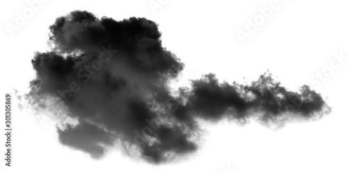 Fototapety, obrazy: white cloud Isolated on white background,Smoke Textured,brush effect