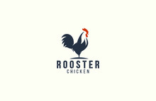 Amazing Rooster Logo Design Vector