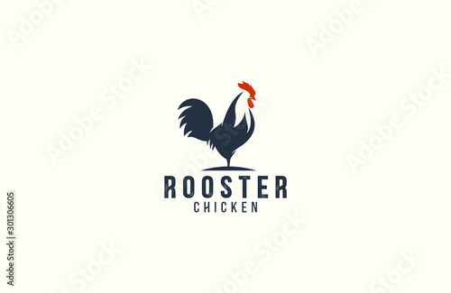 Obraz Amazing rooster logo design vector - fototapety do salonu