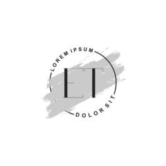 Fototapeta na wymiar Initial letter ET beauty fashion, make up logo