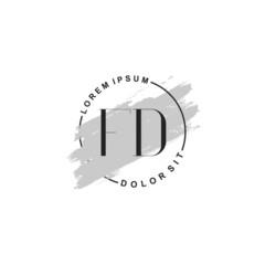 Fototapeta na wymiar Initial letter FD beauty fashion, make up logo
