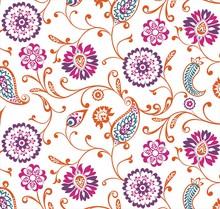 Traditional Paisley Floral Pattern, Textile , Rajasthan, Royal India