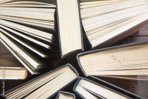 Many Books Piles Canvas-taulu