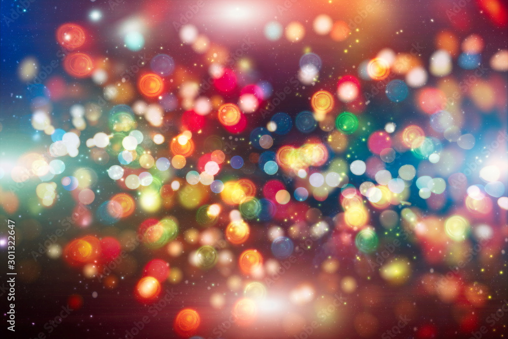 Fototapety, obrazy: Colored abstract blurred light glitter background layout design can be use for background concept or festival background
