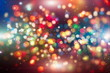canvas print picture Colored abstract blurred light glitter background layout design can be use for background concept or festival background