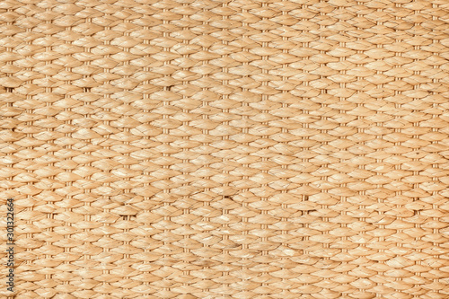 Canvastavla  Brown Straw weave  closeup textured backgroun