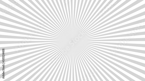 Obraz Sun rays background. Gray radiate sun beam burst effect. Sunbeam light flash boom. Template starburst poster. Sunlight star, sunrise glow burst. Solar radiance glare, retro design. Vector illustration - fototapety do salonu