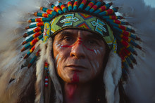 Native Americans.portrait Of A...