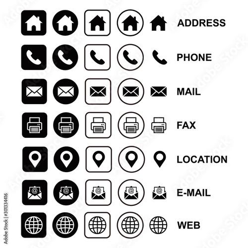 design vector web icon symbol Wall mural