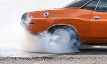 Race Car Burning Rubber