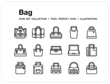 Bag Icons Set. UI Pixel Perfec...