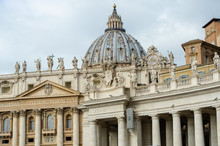 St Peters Basilica Viewed From The Square