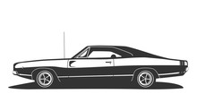 American Muscle Car Vector. Vi...