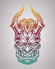 Illustration Of Japanese Demon...