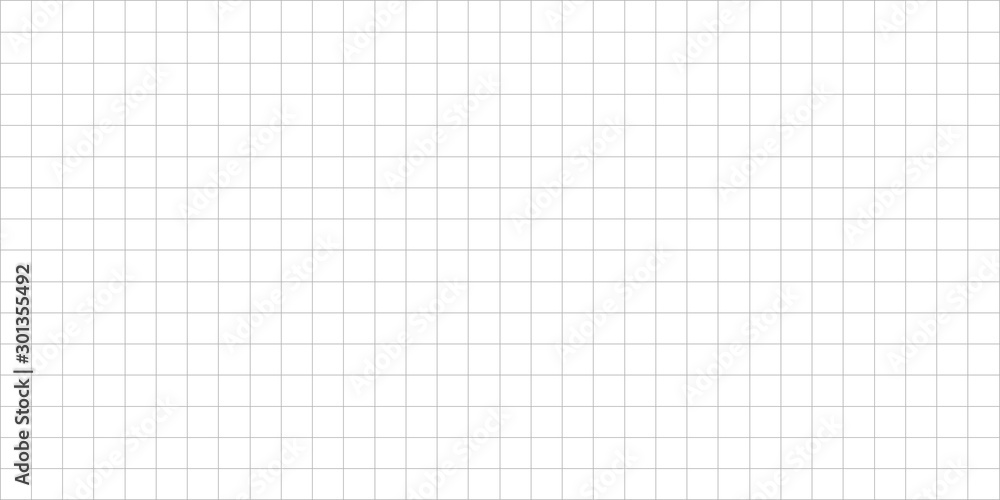 Fototapeta grid square graph line full page on white paper background, paper grid square graph line texture of note book blank, grid line on paper white color, empty squared grid graph for architecture design