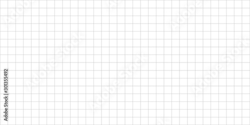 Fotografía grid square graph line full page on white paper background, paper grid square gr