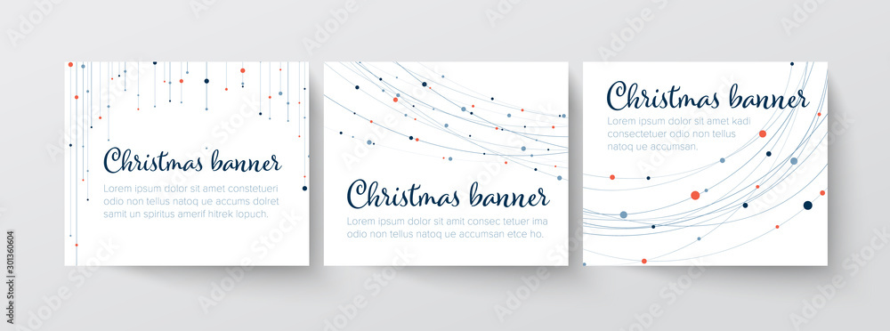 Fototapety, obrazy: Set of christmas Inline/Medium Rectangle banner templates