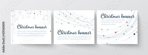 Fotomural  Set of christmas Inline/Medium Rectangle banner templates