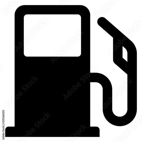 gz568 GrafikZeichnung - german - Zapfventil für Benzin oder Diesel / Tankstelle Tableau sur Toile