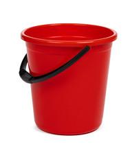 Empty Red Plastic Household Bu...