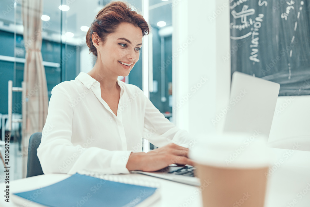 Fototapety, obrazy: Productive and pleasant working day in the office stock photo