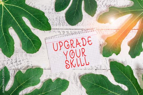 Valokuva  Word writing text Upgrade Your Skill