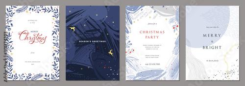 Obraz Merry Christmas and Modern Business Holiday cards. - fototapety do salonu