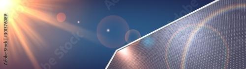 Photo  photovoltaic renewable background solar panel 3d