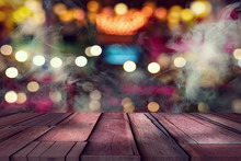 Top Desk With Blur Bokeh And S...