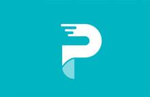Alphabet Letter P Green White Pastel Color For Company Icon Logo Design