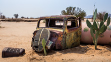 In Namibia, Some Campsites Are Decorated With Wrecks Of Old Vehicles