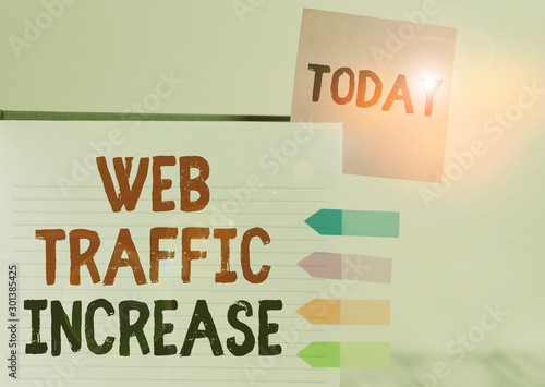 Word writing text Web Traffic Increase Wallpaper Mural