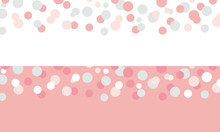 Set Of 2 Pastel Pink Confetti Borders