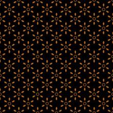 Modern Geometric Black White Floral Seamless Pattern Vector