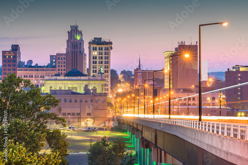 Spoed Foto op Canvas Bleke violet Youngstown, Ohio, USA downtown skyline