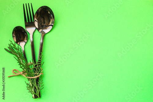 Pinturas sobre lienzo  cutlery rustic, used for eating or serving (fork, knife, spoon, plate - set)