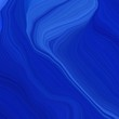 square graphic illustration with medium blue, royal blue and strong blue colors. abstract fractal swirl motion waves. can be used as wallpaper, background graphic or texture