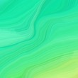 square graphic illustration with turquoise, medium spring green and light green colors. abstract colorful swirl motion. can be used as wallpaper, background graphic or texture