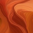 canvas print picture quadratic graphic illustration with firebrick, saddle brown and coral colors. abstract design swirl waves. can be used as wallpaper, background graphic or texture
