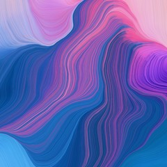 quadratic graphic illustration with strong blue, pastel violet and moderate violet colors. abstract design swirl waves. can be used as wallpaper, background graphic or texture