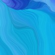 quadratic graphic illustration with dodger blue, strong blue and corn flower blue colors. abstract colorful waves motion. can be used as wallpaper, background graphic or texture