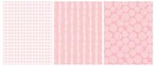 Pink Geometric Seamless Vector...