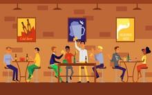 Beer Bar Or Restaurant Interio...