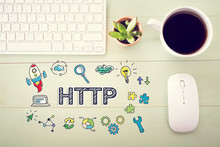 Http Concept With Workstation ...