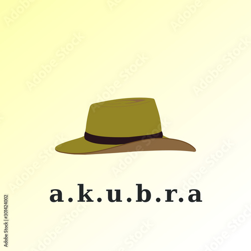 Photo akubra hat simple flat vector illustration